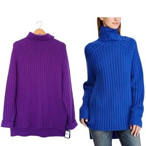 Polo Ralph Lauren purple turtleneck sweater chunky